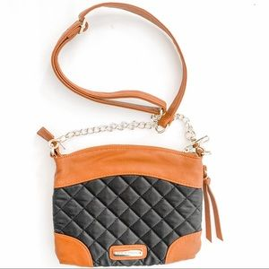 Steve Madden Brown and Black Quilted Crossbody